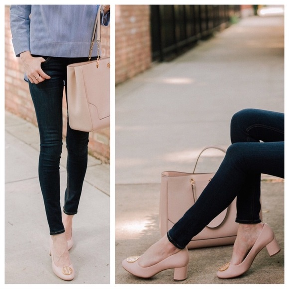 990461c7bda721 Tory Burch Pale Nude Pink Benton Pump Heels 9.5